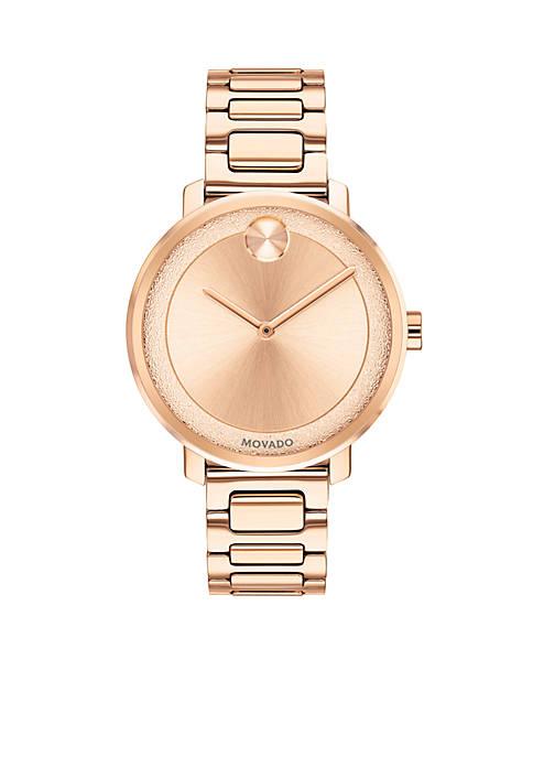 Womens Rose Gold Sugar Watch