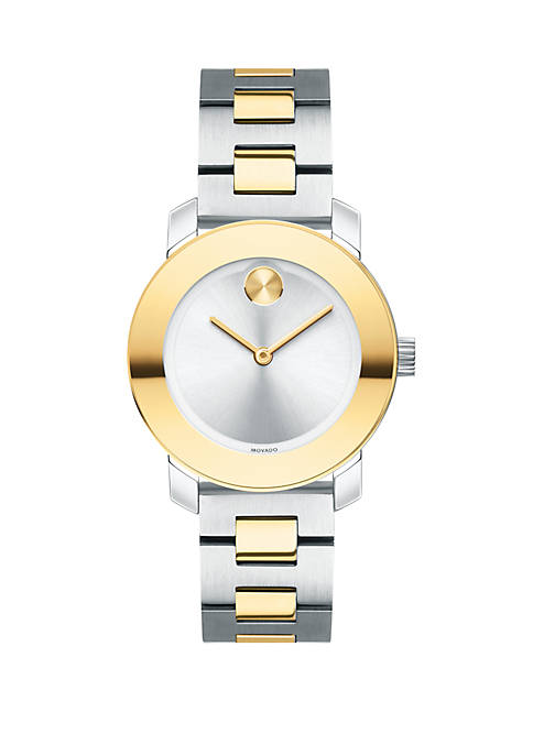 Movado Two-Tone Stainless Steel BOLD Bracelet Watch
