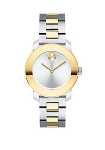 Two-Tone Stainless Steel BOLD Bracelet Watch