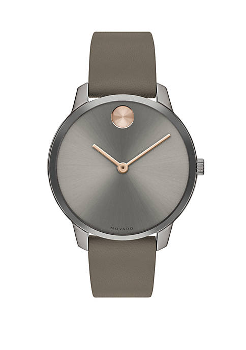 Bold Gray Dial With Strap