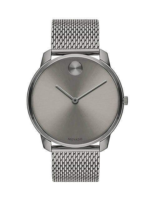 Gray Ion Plated Stainless Steel Watch
