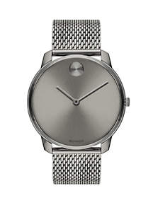 Movado Gray Ion Plated Stainless Steel Watch