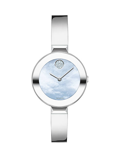 Movado Womens 28 Millimeter Swiss Bold Stainless Steel
