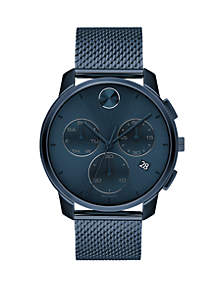 Movado Men's 42 Millimeter Stainless Steel Bold Mesh Bracelet Watch