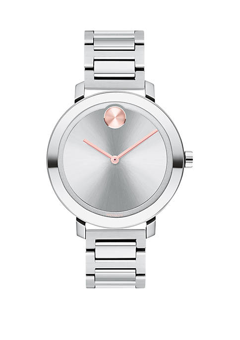Womens Stainless Steel Bold Bracelet Watch