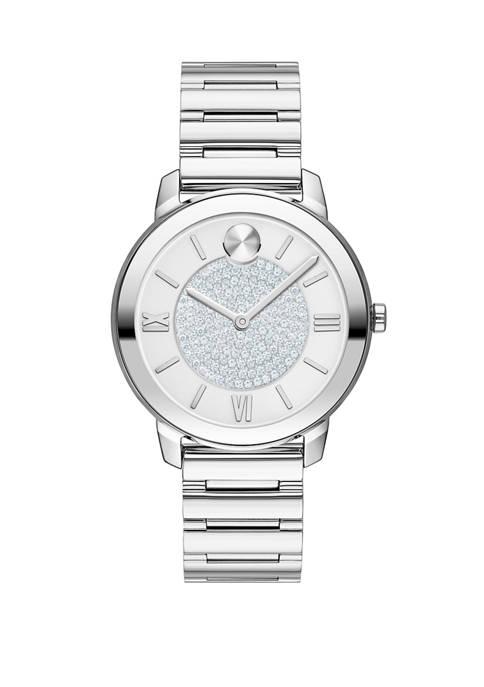 Womens Swiss BOLD Stainless Steel Bracelet Watch