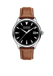 Men's Heritage Series Caledoplan Brown Leather Watch