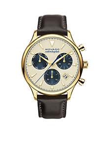 Men's Heritage Series Calendoplan Beige Dial Watch