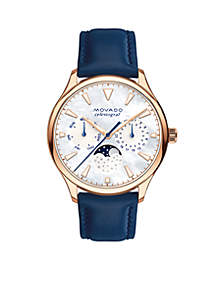 Gold-Tone Heritage Series Ladies Navy Strap Watch