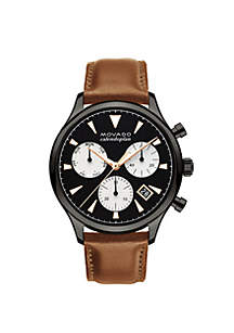 Stainless Steele Men's Movado Heritage Series Calendoplan Chronograph Watch