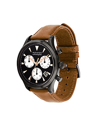 d502946f6 ... Movado Stainless Steele Mens Movado Heritage Series Calendoplan  Chronograph Watch ...