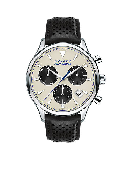 Movado Mens Heritage Series Calendoplan Chronograph Watch