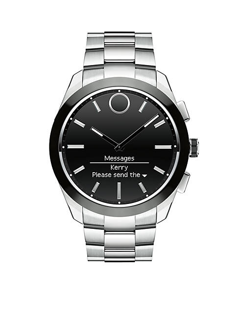 Movado Mens Bold Connected II Stainless Steel Smartwatch