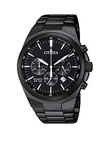 Men's Stainless Steel Quartz Chronograph Watch With Date