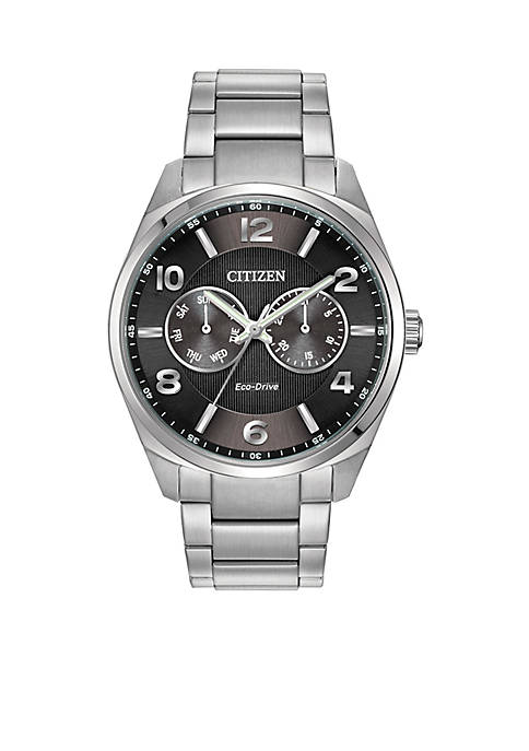 Citizen Mens Stainless Steel Dress Watch with Day
