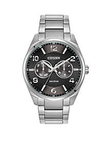 Citizen Men's Stainless Steel Dress Watch with Day and Date Subdial