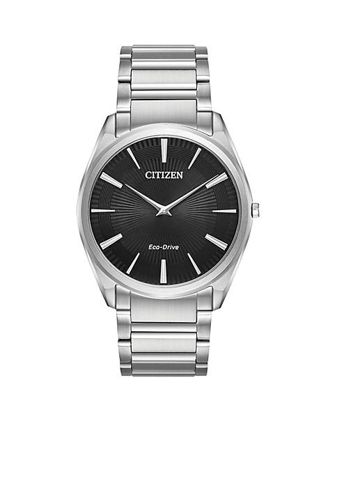 Citizen Mens Stainless Steel Eco-Drive Stiletto Watch