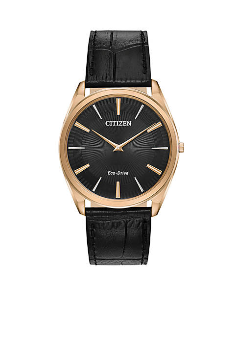 Citizen Mens Rose Gold-Tone Stainless Steel Eco-Drive Stiletto