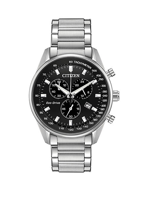 Citizen Mens Eco Drive Brycen Stainless Steel Silver