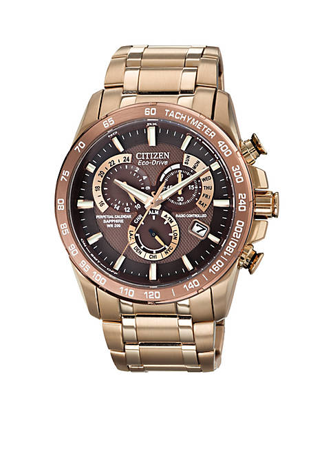 Citizen Eco-Drive Mens Perpetual Chrono A-T Watch