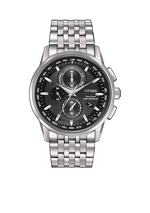 Citizen Eco-Drive Mens World Chronograph Watch