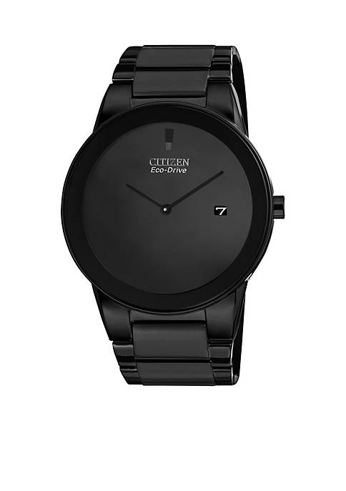 Citizen Eco-Drive Mens Black Ion Plated Axiom Watch