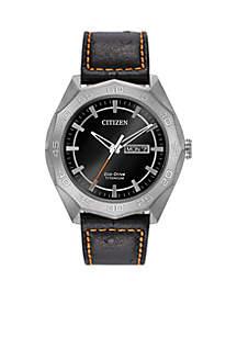 Men's Silver-Tone Titanium Citizen Eco-Drive Watch