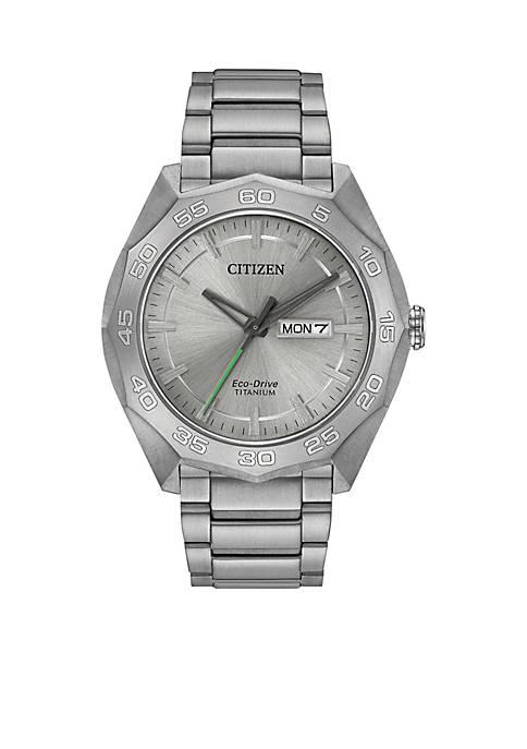 Citizen Mens Titanium Eco-Drive Watch