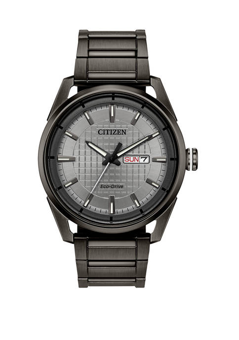 Mens Drive Gray Stainless Steel Bracelet Watch