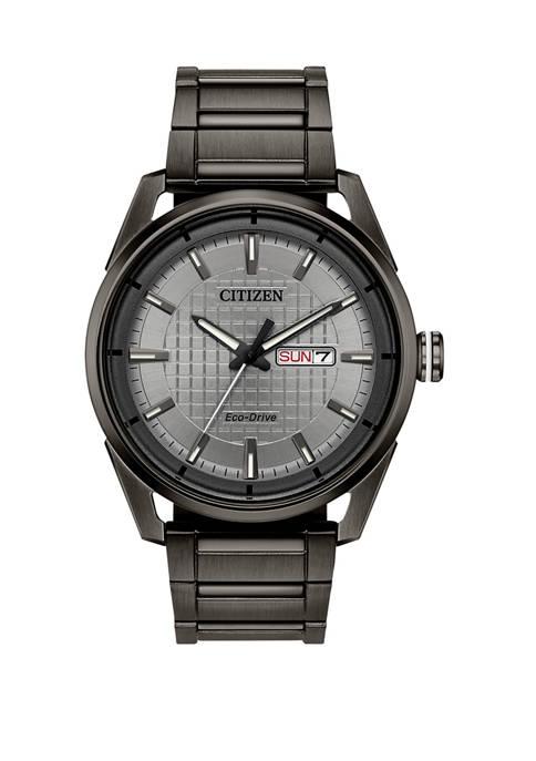 Citizen Mens Drive Gray Stainless Steel Bracelet Watch