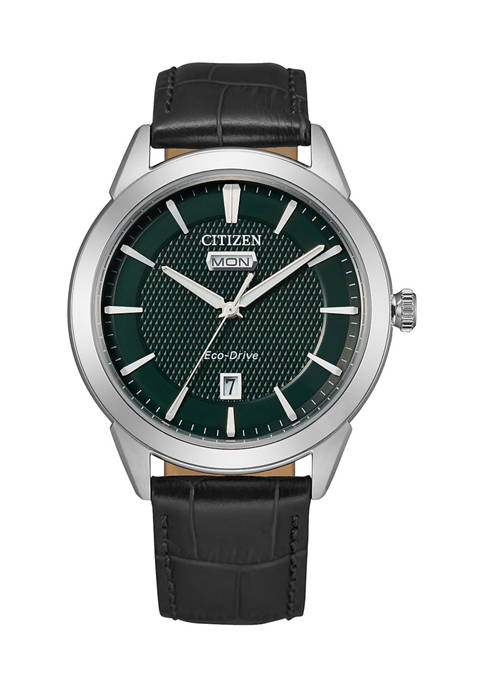 40.5 Millimeter Stainless Steel Leather Corso Watch