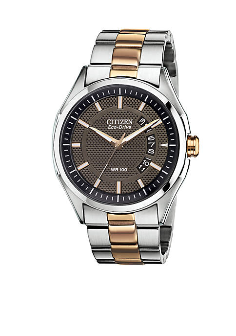 Citizen Mens Drive Two Tone Rose Gold Watch