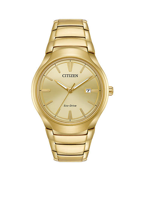 Citizen Mens Eco-Drive Paradigm Gold-Tone Stainless Steel Watch