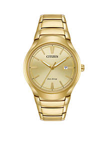 Men's Eco-Drive Paradigm Gold-Tone Stainless Steel Watch