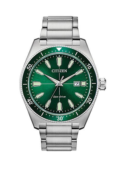 Mens  Stainless Steel Eco Drive Brycen Watch