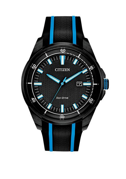 Citizen Drive Mens Black/Blue Strap Watch