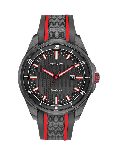 Citizen Mens Drive Gray Silicone Strap Watch