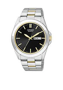 Quartz Men's Two-Tone Watch