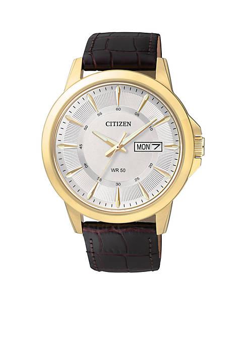 Citizen Mens Quartz Gold-Tone Stainless Steel Watch