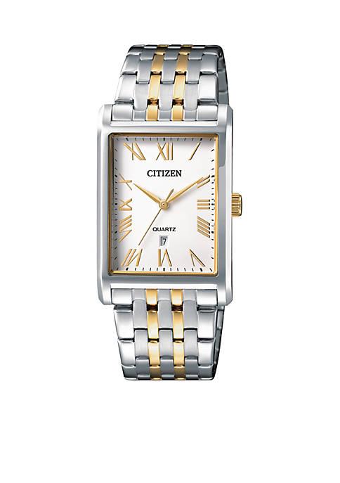 Citizen Mens Quartz Two-Tone Stainless Steel Bracelet Watch