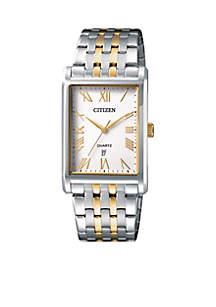 Men's Quartz Two-Tone Stainless Steel Bracelet Watch