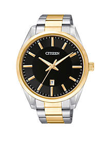 Citizen Men's Quartz Two-Tone Stainless Steel Three Hand Basic Watch