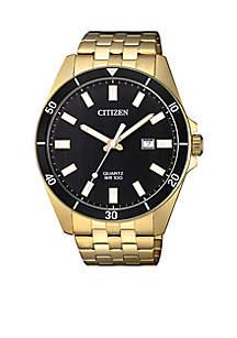 Men's Gold-Tone Stainless Steel Quartz Watch
