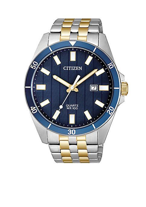 Citizen Quartz Two-Tone Stainless Steel Bracelet Watch