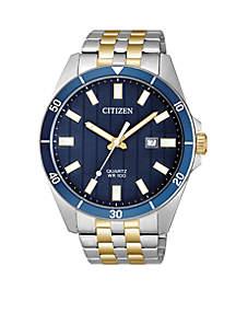 Quartz Two-Tone Stainless Steel Bracelet Watch