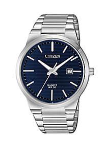 Quartz Stainless Steel Case and Bracelet Watch