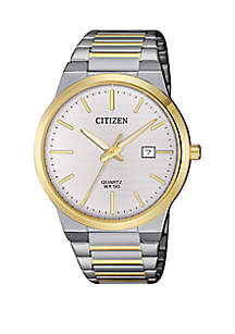 Quartz 2-Tone Stainless Steel Case and Bracelet Watch