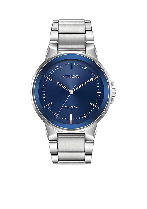 Citizen Mens Stainless Steel Eco-Drive Axiom Watch