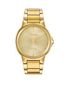 Stainless Steel Axiom Gold Dial Watch