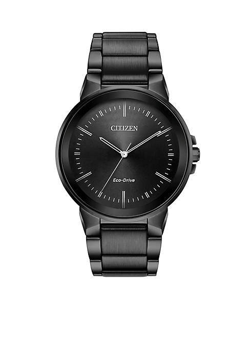 Citizen Grey Ion-Plated Stainless Steel Eco-Drive Axiom Black